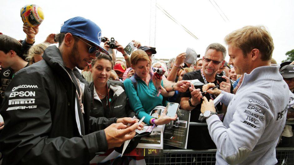 Lewis Hamilton, Nico Rosberg, Mercedes, Silverstone, 2016