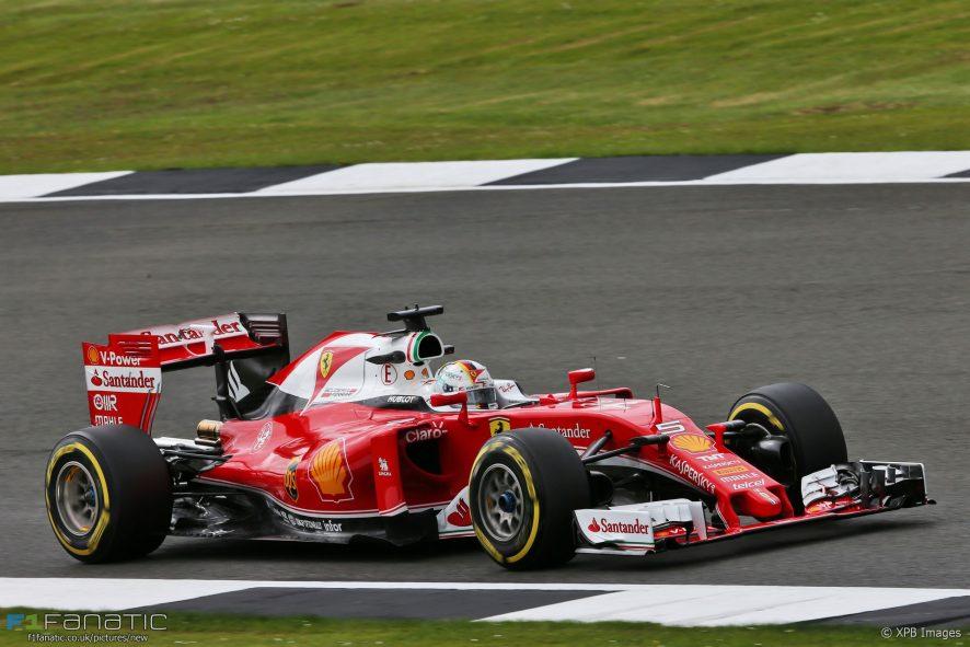 Sebastian Vettel, Ferrari, Silverstone, 2016 · RaceFans