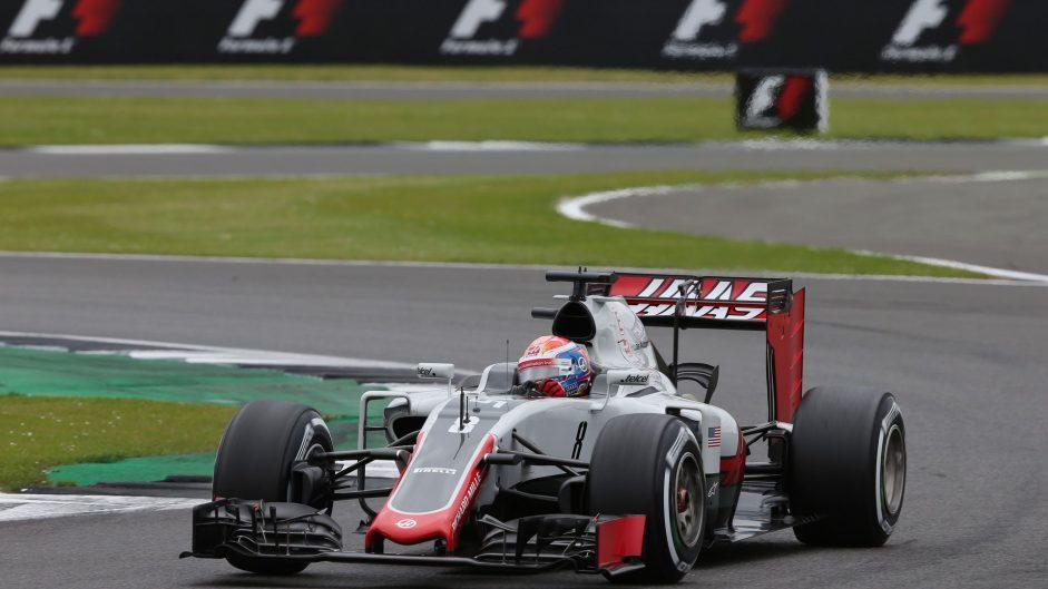 Romain Grosjean, Haas, Silverstone, 2016