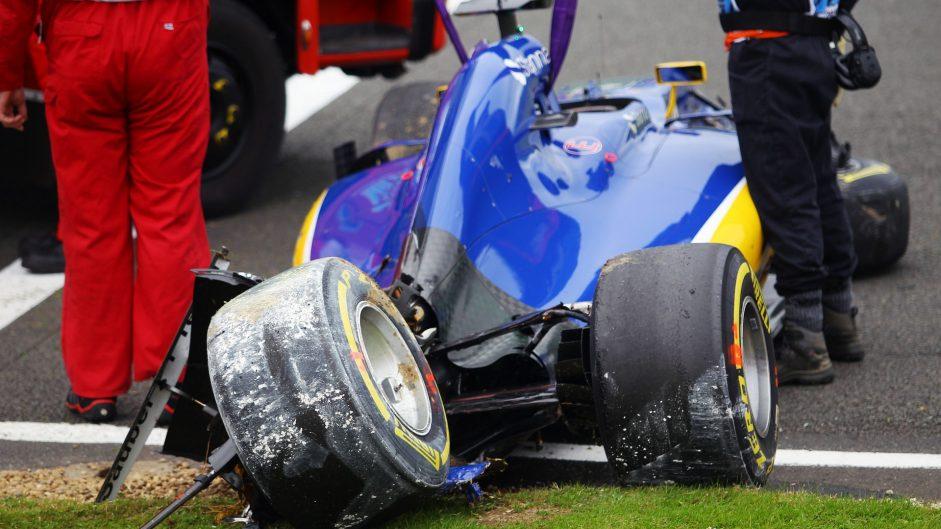 "Ericsson ""sore but OK"" after ""huge"" crash"