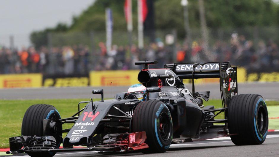 Fernando Alonso, McLaren, Silverstone, 2016