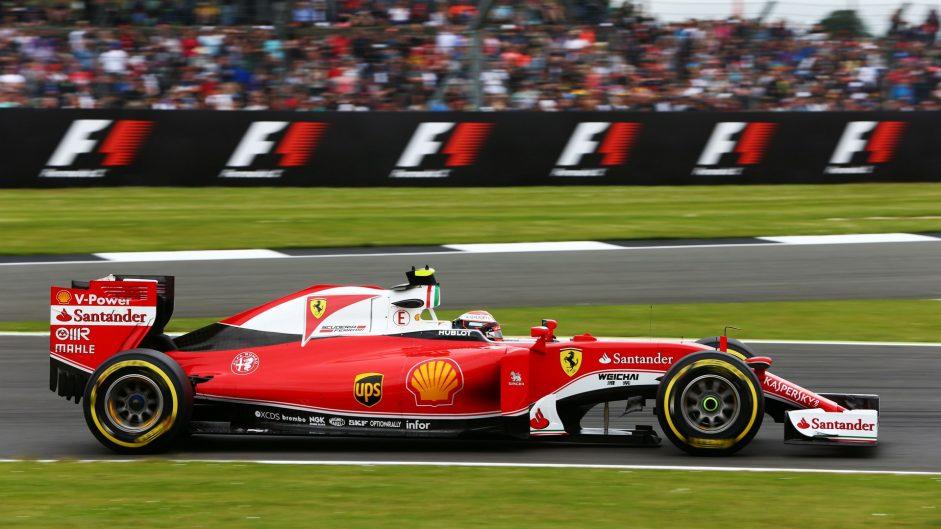 Kimi Raikkonen, Ferrari, Silverstone, 2016