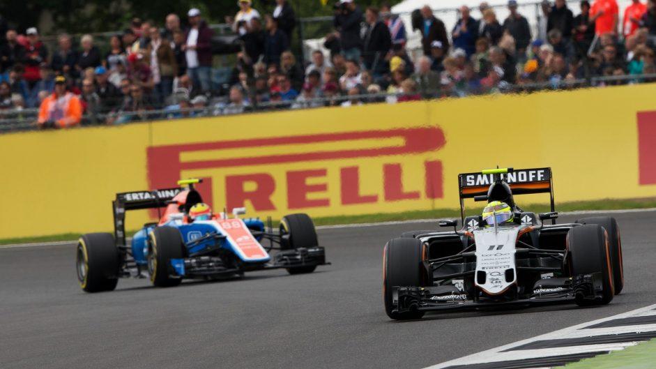 Sergio Perez, Force India, Silverstone, 2016