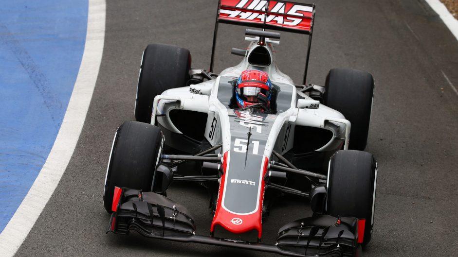 Santino Ferrucci, Haas, Silverstone test, 2016
