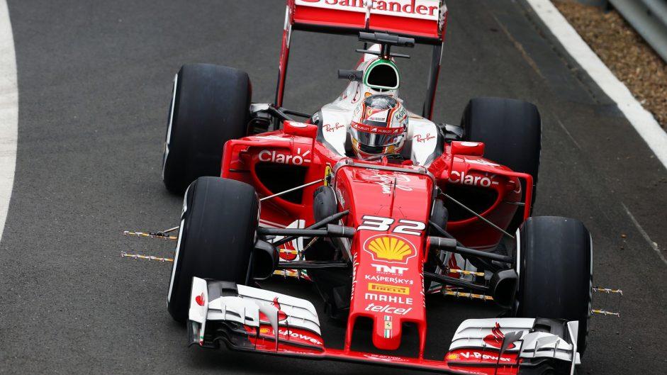 Charles Leclerc, Ferrari, Silverstone test, 2016