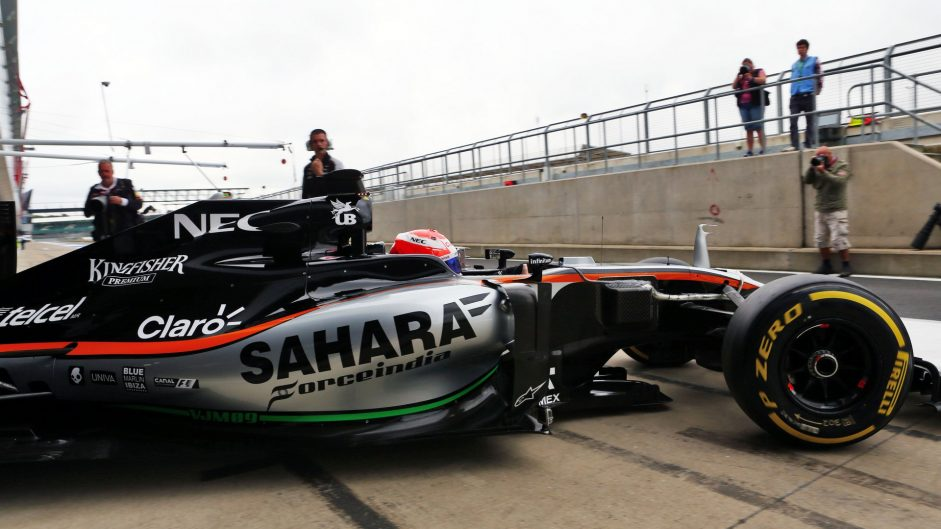 Nikita Mazepin, Force India, Silverstone test, 2016