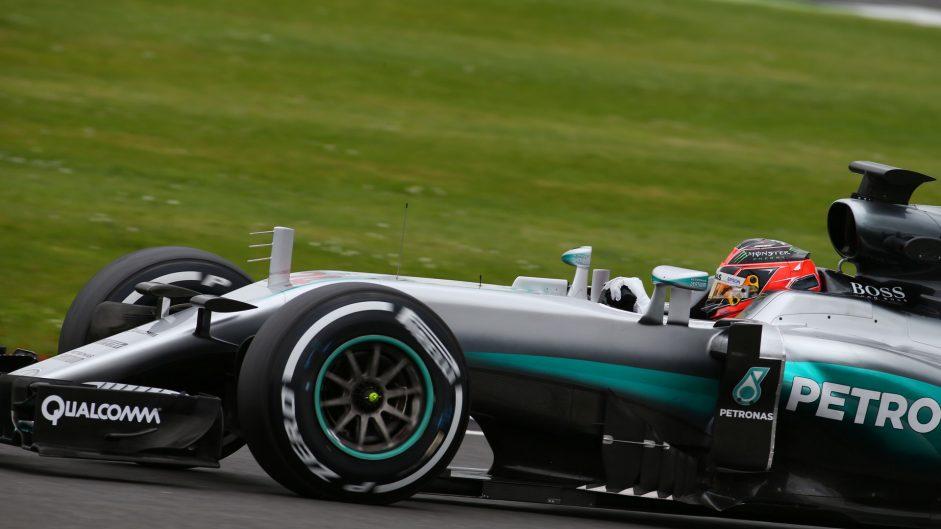 Esteban Ocon, Mercedes, Silverstone test, 2016