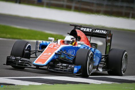 Jordan King, Manor, Silverstone test, 2016