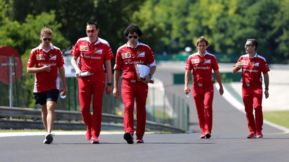 Sebastian Vettel, Ferrari, Hungaroring, 2016