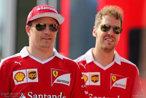Kimi Raikkonen, Sebastian Vettel, Ferrari, Hungaroring, 2016