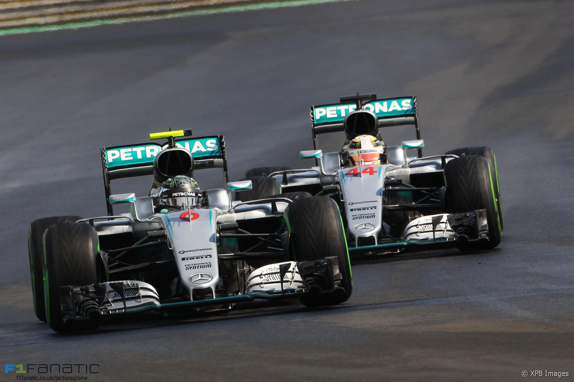 Nico Rosberg, Lewis Hamilton, Mercedes, Hungaroring, 2016
