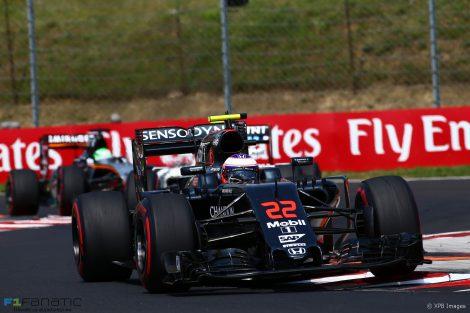 Jenson Button, McLaren, Hungaroring, 2016