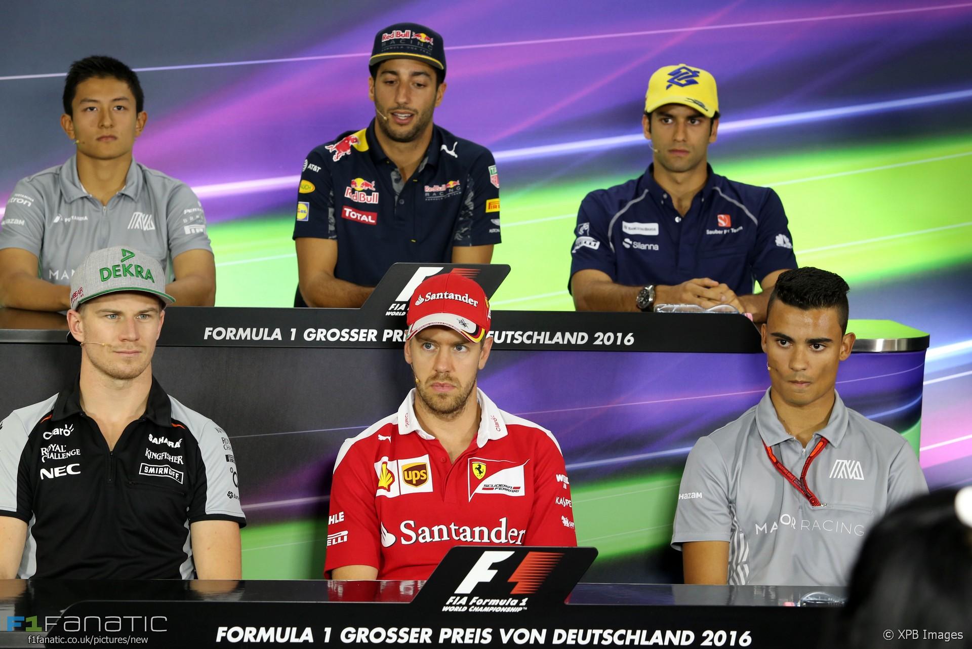 Nico Hulkenberg, Sebastian Vettel, Pascal Wehrlein, Hockenheimring, 2016