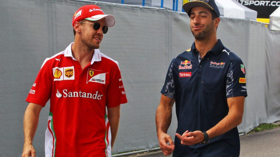 Sebastian Vettel, Daniel Ricciardo, Hockenheimring, 2016