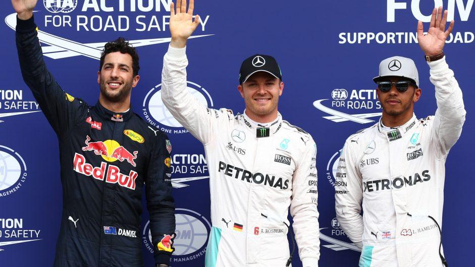 Daniel Ricciardo, Nico Rosberg, Lewis Hamilton, Hockenheimring, 2016