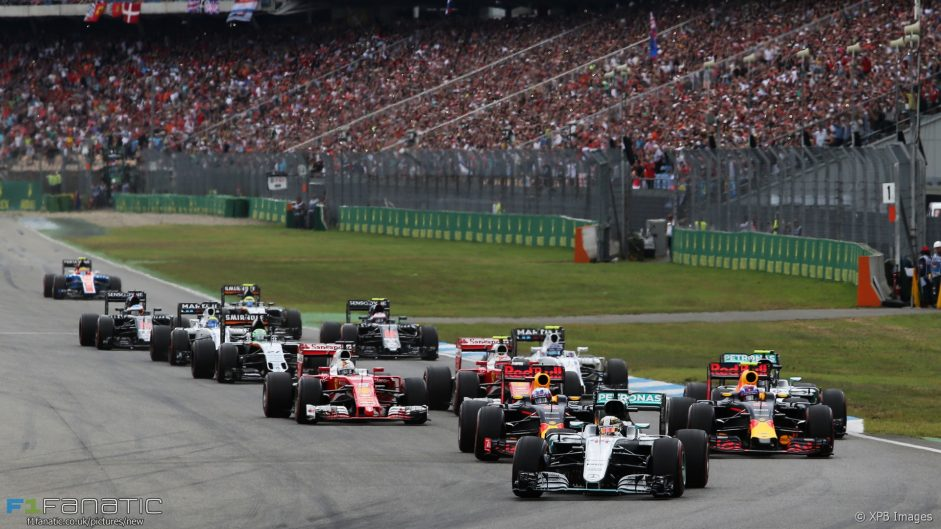 Hamilton grabs win as Rosberg slips up at home