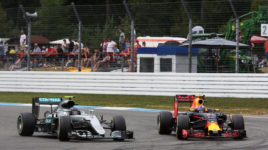 Nico Rosberg, Max Verstappen, Hockenheimring, 2016