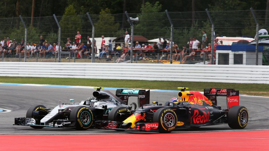 Rosberg given penalty points for forcing Verstappen off