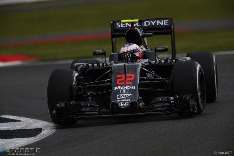 Jenson Button, McLaren, Silverstone, 2016