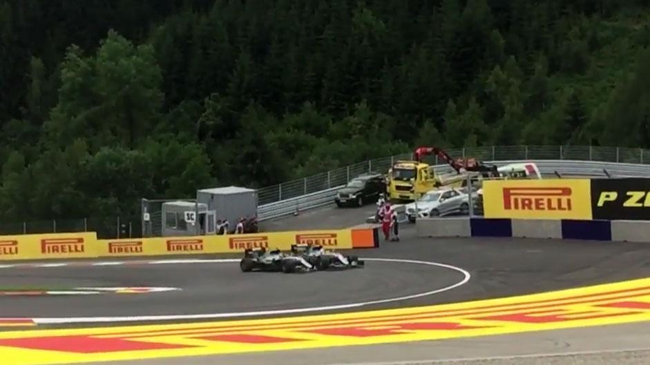 Fan video reveals new angle of Hamilton-Rosberg clash