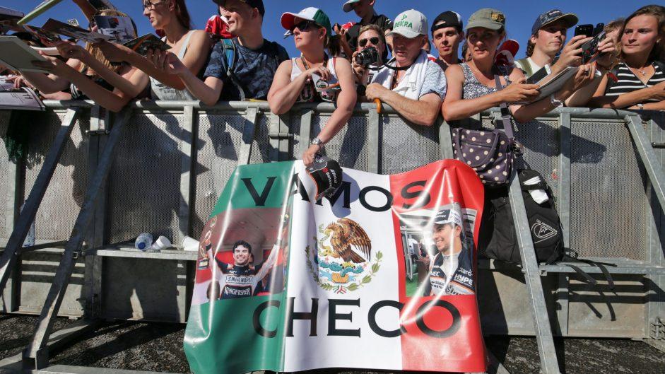 Sergio Perez fans, Spa-Francorchamps, 2016