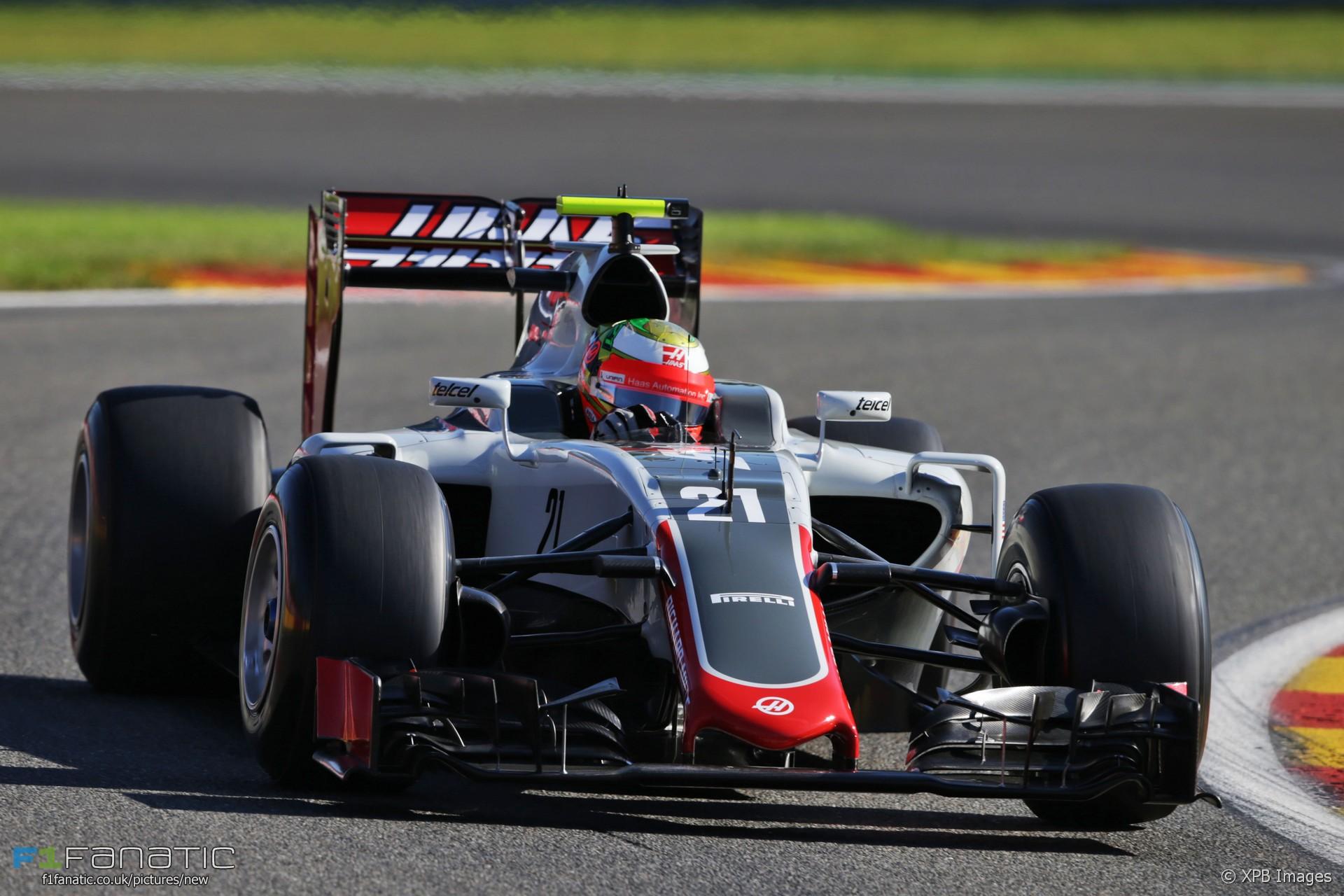 Esteban Gutierrez, Haas, Spa-Francorchamps, 2016