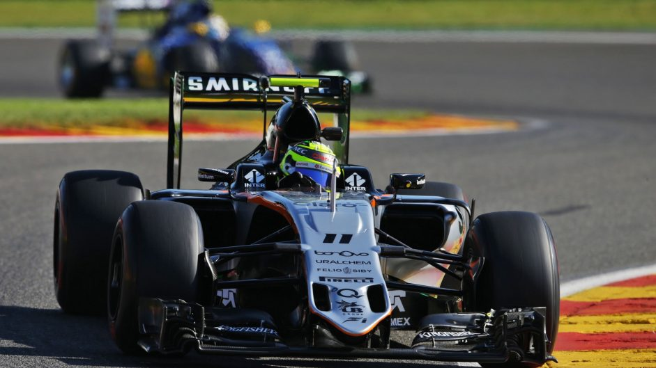 "Perez hails ""great day"" for Force India"
