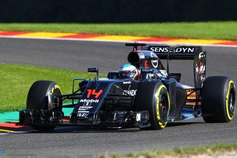 Fernando Alonso, McLaren, Spa-Francorchamps, 2016