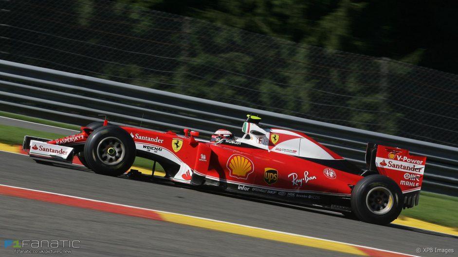 Raikkonen quickest in final Belgian practice