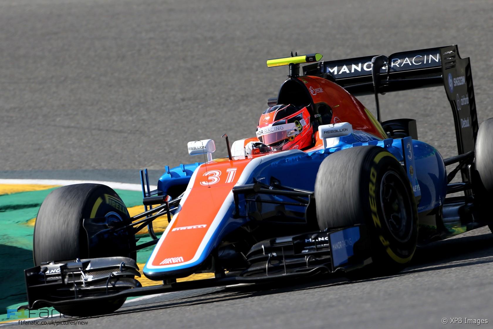 Esteban Ocon, Manor, Spa-Francorchamps, 2016 · F1 Fanatic