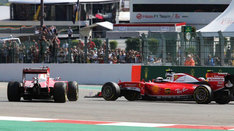 Sebastian Vettel, Kimi Raikkonen, Ferrari, Spa-Francorchamps, 2016