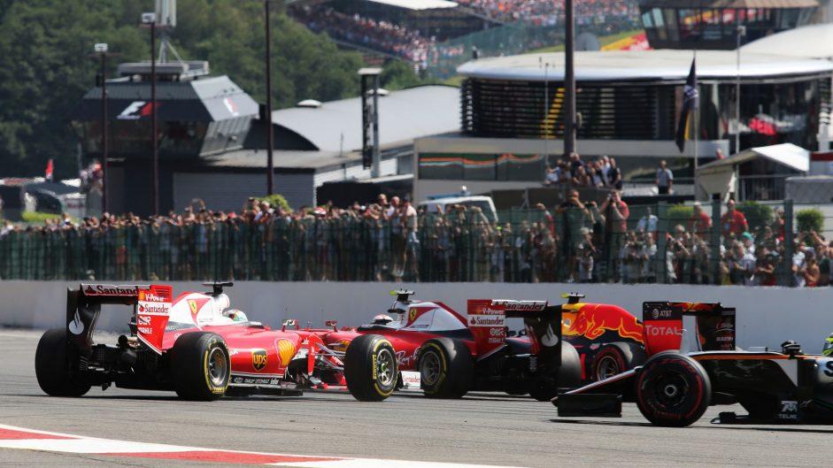 Vettel blames Verstappen for turn one collision