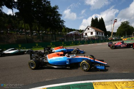Pascal Wehrlein, Manor, Spa-Francorchamps, 2016
