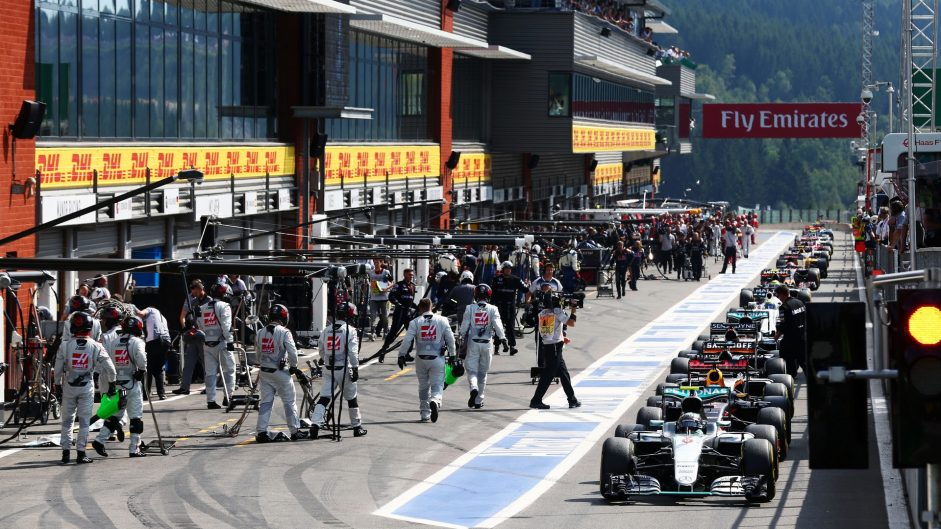 2016 Belgian Grand Prix tyre strategies and pit stops