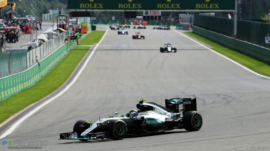 2016 Belgian Grand Prix race result