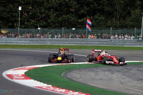 Max Verstappen, Kimi Raikkonen, Spa-Francorchamps, 2016