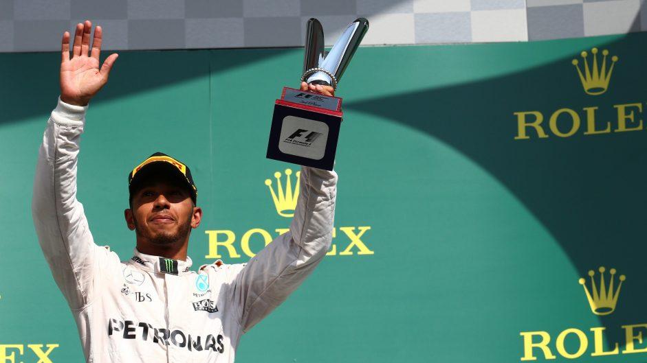 Hamilton makes rare podium run from outside top 20
