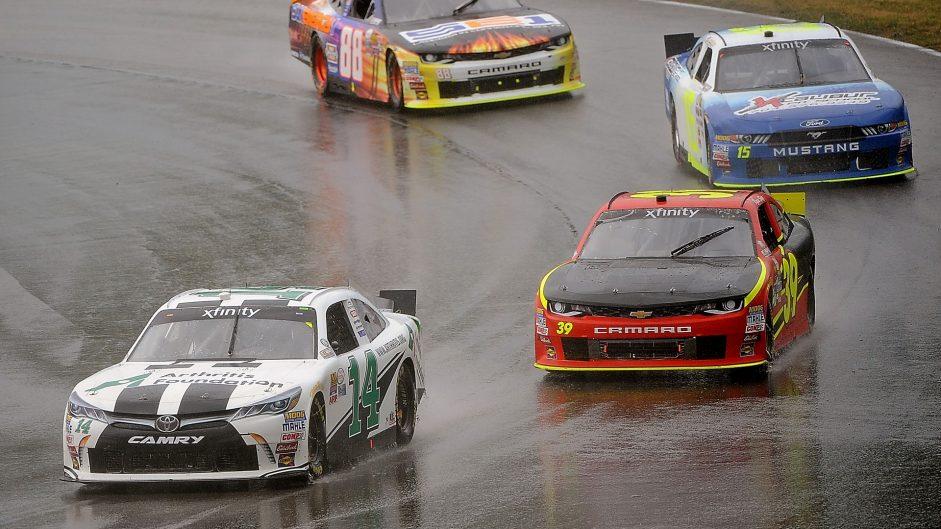 Chaos in rain-hit NASCAR feeder series race