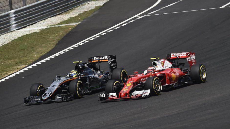 Sergio Perez, Kimi Raikkonen, Sepang International Circuit, 2016