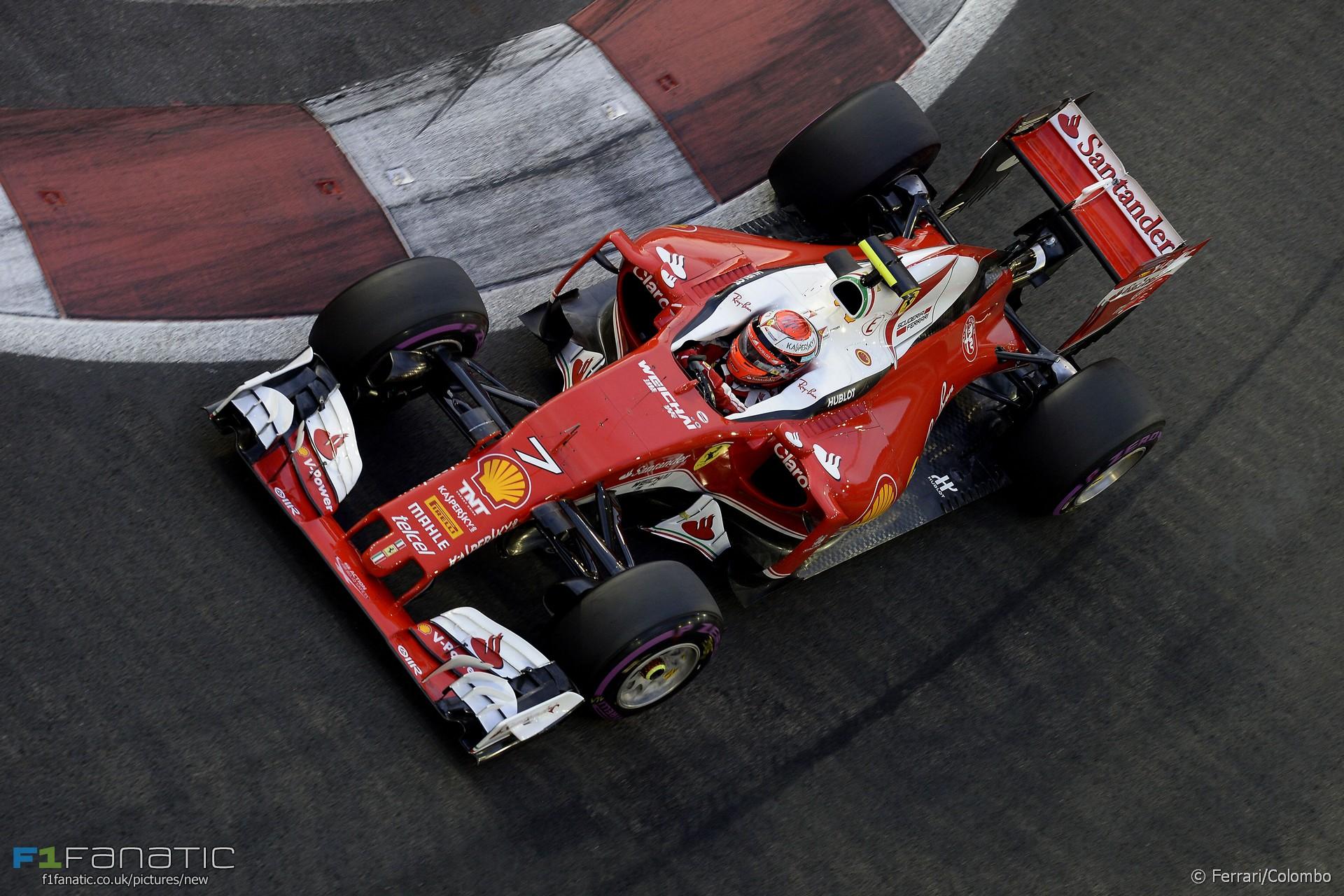 Kimi Raikkonen, Ferrari, Singapore, 2016