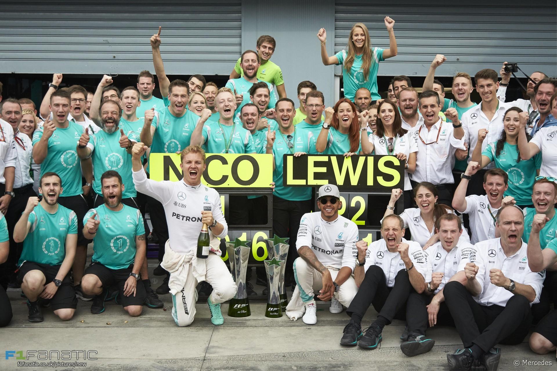 Nico Rosberg, Lewis Hamilton, Mercedes, Monza, 2016