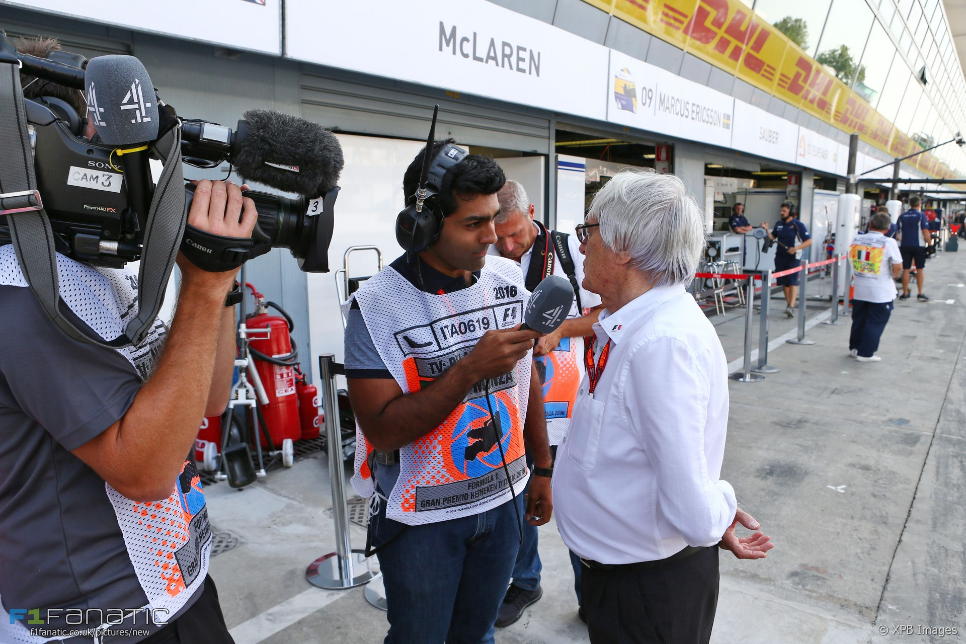 Karun Chandhok, Bernie Ecclestone, Monza, 2016