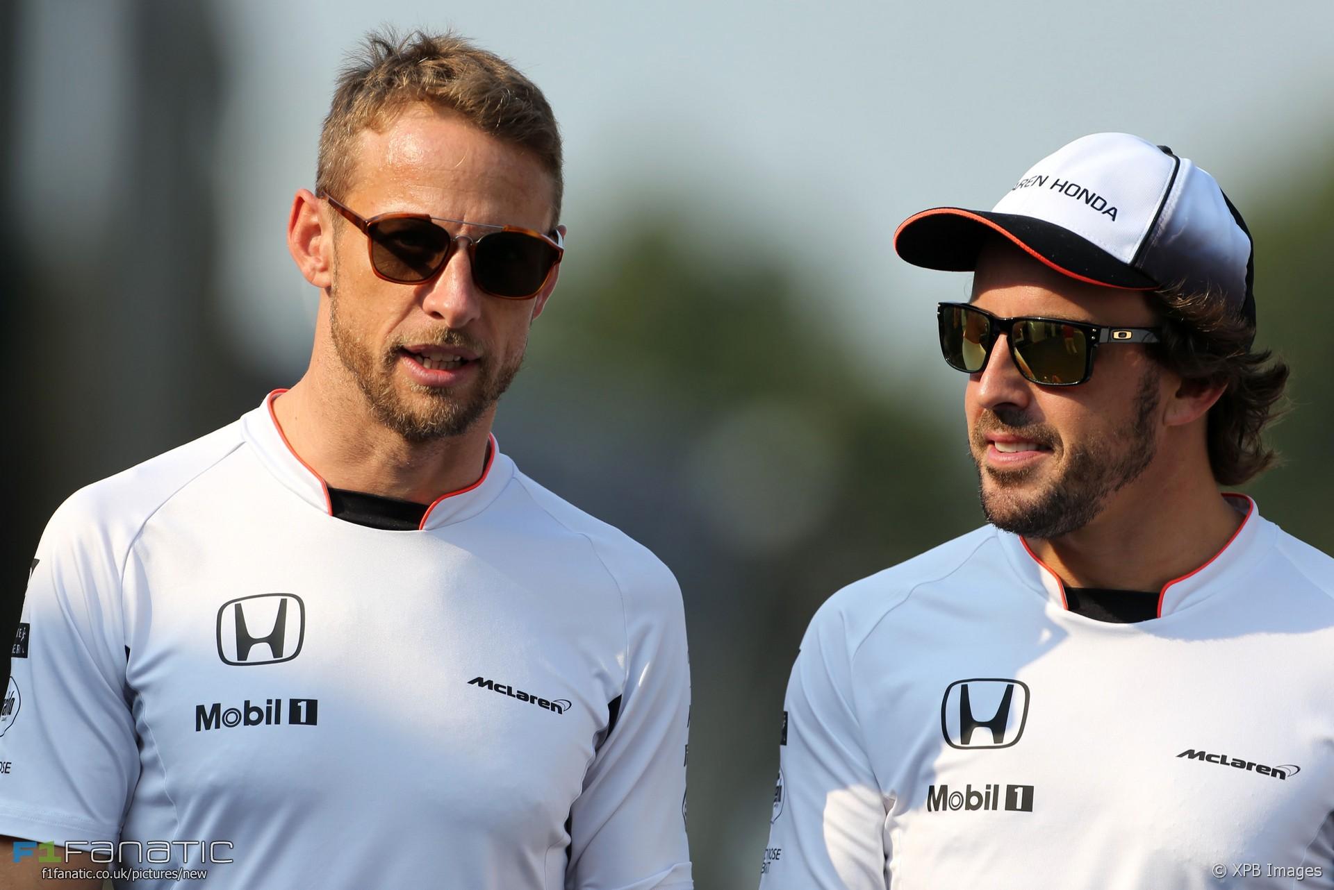 Jenson Button, Fernando Alonso, McLaren, Monza, 2016