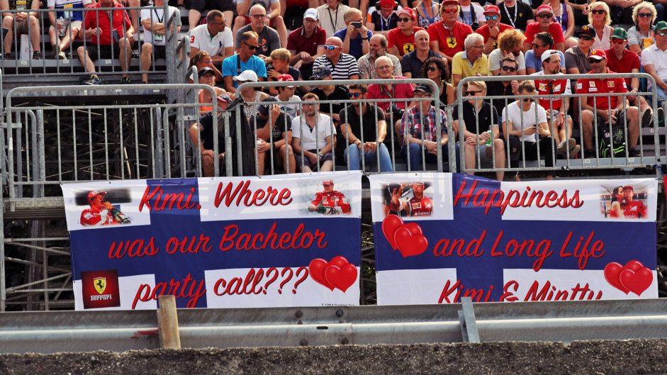 Fan banner, Monza, 2016