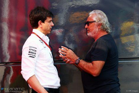 Toto Wolff, Flavio Briatore, Monza, 2016