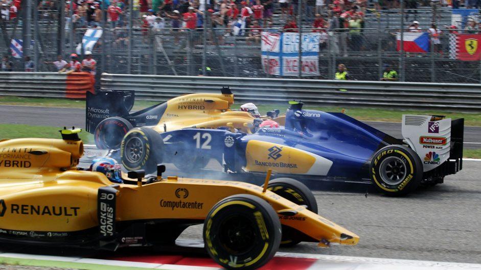 Jolyon Palmer, Felipe Nasr, Monza, 2016
