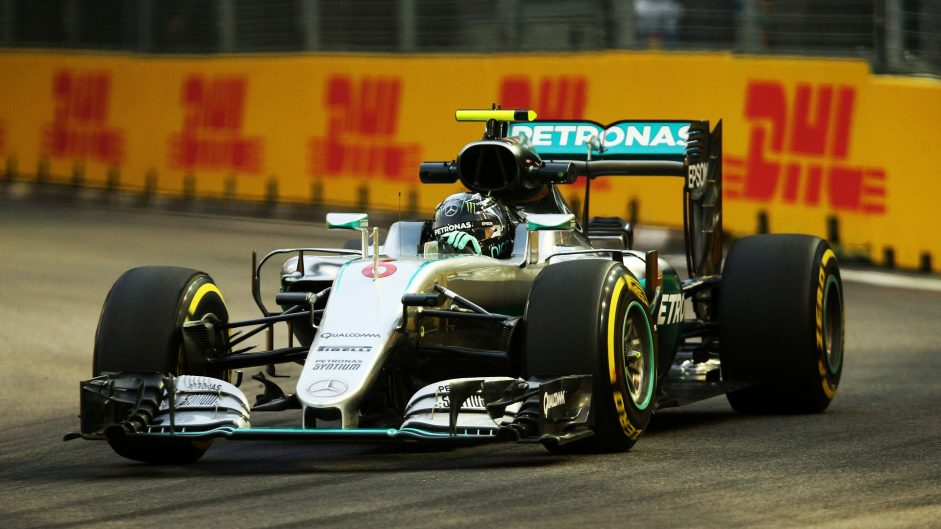 Rosberg leads while fault sidelines Hamilton