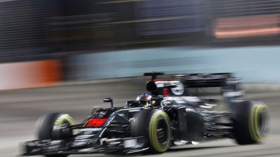 Fernando Alonso, McLaren, Singapore, 2016