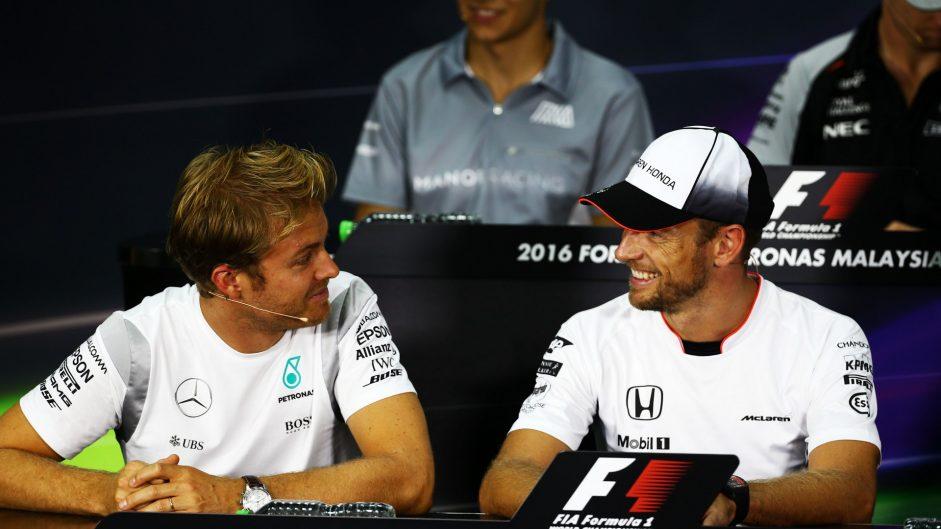'Hamilton should pay me to take out Rosberg', jokes Button