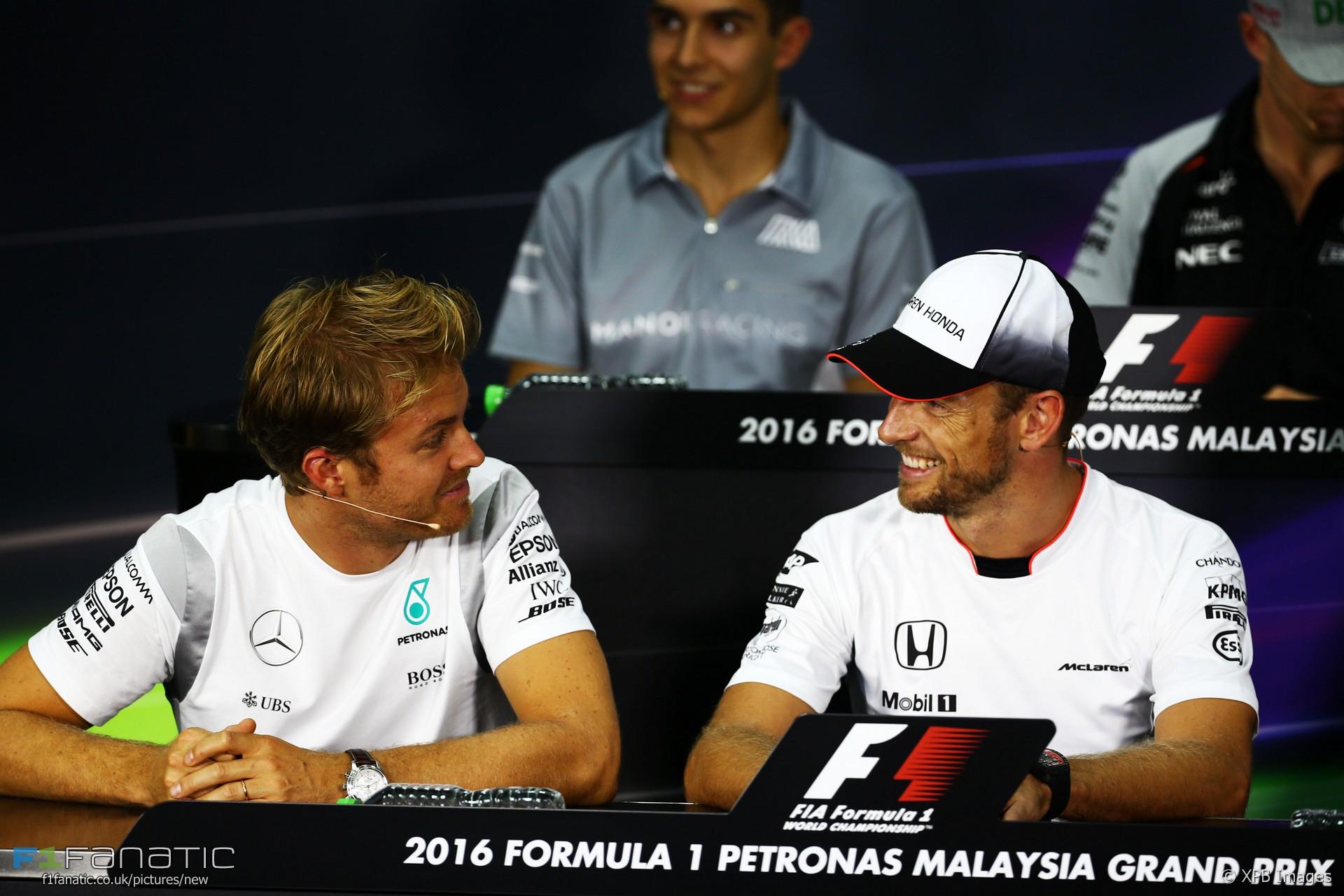 Nico Rosberg, Jenson Button, Sepang International Circuit, 2016